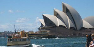 Australia Day on Sydney Harbour with Sydney Opera House